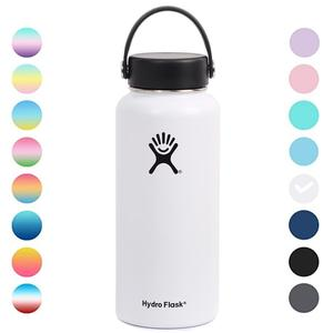Hydro Flask Water Bottle Stainless Steel Thermos Bottle Sport Camping Vacuum Insulated Wide Mouth Flask Stickers Lid 18/32oz