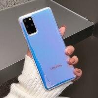 Funda de teléfono de lujo con láser púrpura para Samsung Galaxy, protector de TPU suave para Samsung Galaxy A32 5G S21 S20 FE S10 Plus Note20 Ultra Note 8 9