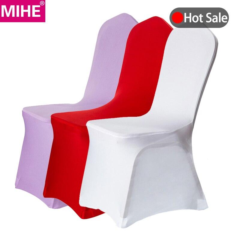 8 couleurs simples chaise de mariage moderne couvre Spandex universel Stretch hôtel salle à manger housse de chaise fête réunion chaise couverture