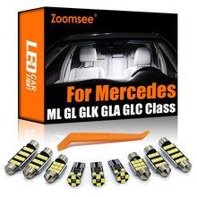 Zoomsee para mercedes benz m ml gl glk gla glc classe w163 w164 w166 x164 x166 x204 x156 x253 canbus lâmpada led kit de luz interior