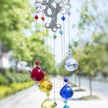 Кристаллический витраж H & D, чакра цветов, подвеска на окно «Дерево жизни», Радужный витраж, Рождественский домашний декор