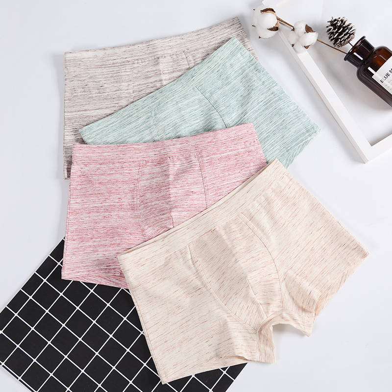 2019 Panties Mens 4Pcs\lot Underwear Organic Natural Cotton Boxers Men Boxers Ventilate Boxers Interior Bokser Homme 95% Cotton