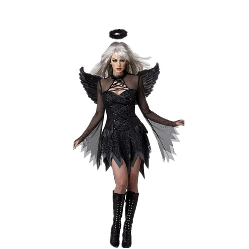 Halloween Witch Costume Angel Costumes Devil Costume Witch Service With Angel Wings Goddess Suit
