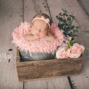 Новорожденный Подставки для фотографий приятный мягкий мех Ткань гнездо Одеяло ребенок позирует фотосессии наряд для фотосессий аксессуары корзина наполнитель Слои|Одеяла и пеленки|   | АлиЭкспресс