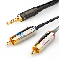Xiao Fan C01 RCA Audio Cable Amplifier Connection Line 3.5mm to 2 RCA For The An on board/speakers/ Home Theater /DVD / PC
