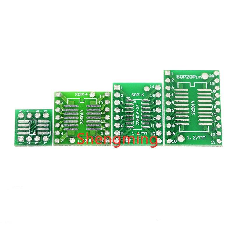 10 шт. SOP SSOP TSSOP 8 14 16 20 к DIP 8 14 16 20 плата для переноса DIP Pin плата шаг адаптер PCB