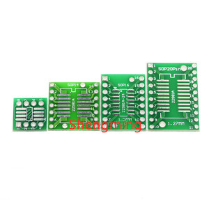 10PCS SOP SSOP TSSOP 8 14 16 20 to DIP 8 14 16 20 Transfer Board DIP Pin Board Pitch Adapter PCB