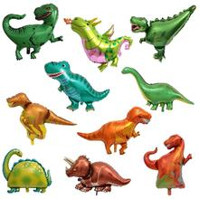 1Piece Giant Dinosaur Foil Balloon Boys Animal Balloons Children's Dinosaur Party Birthday Decorations Helium Balloons Kids Toys dinosaur party balloons giant balloon animal toys inflatable dinosaur party supplies animal shaped dinosaur birthday balloons