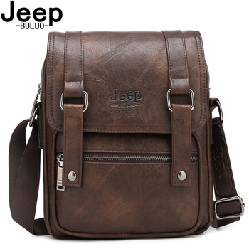 JEEP BULUO Multi-function Men Bags High Quality Business Leather Crossbody Shoulder Bag For iPad Male Messenger Bag jeep buluo men crossbody bags fashion high quality leather chest bag for young man casual male sling bags travel shoulder bag