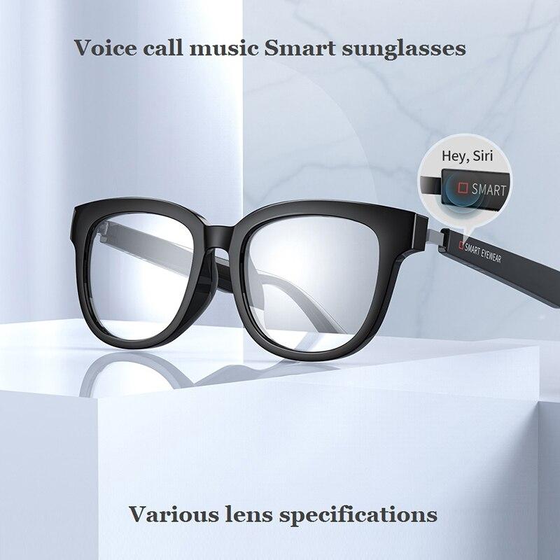 Kx bluetooth 5.0 óculos inteligentes música chamada de voz óculos de sol pode ser combinado com lentes de prescrição compatível ios android