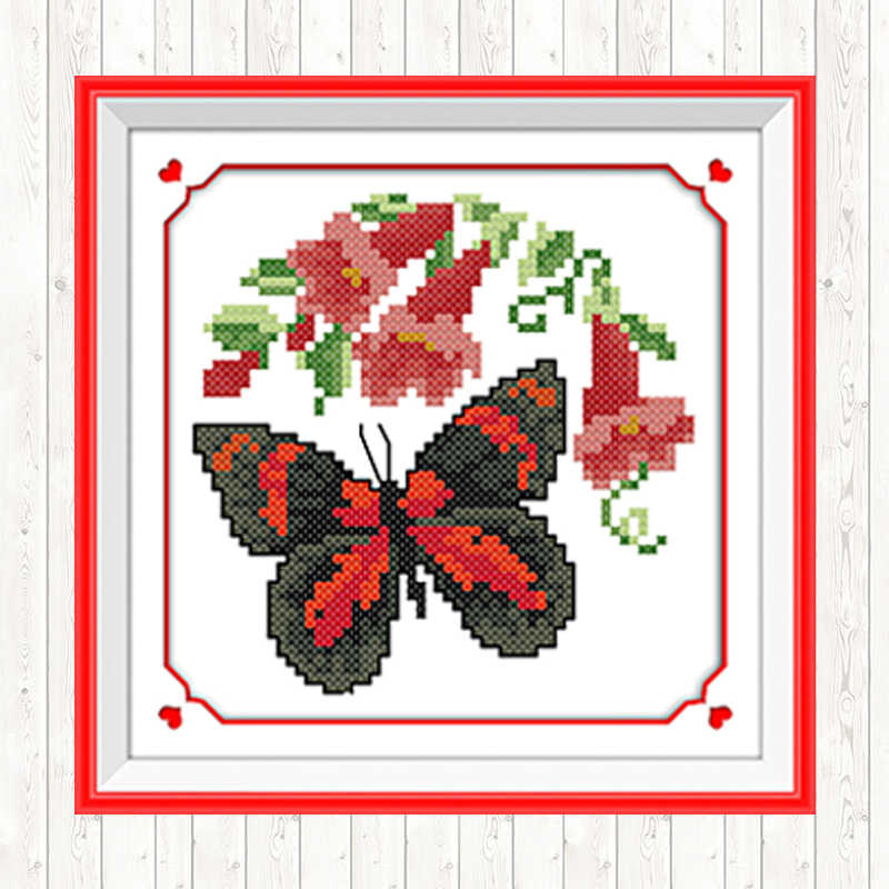 蝶シリーズ中国クロスステッチパターン 14CT 11CT 動物パターンクロスステッチ刺繍裁縫セット工芸品