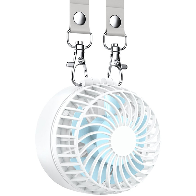 Battery Operated Necklace Fan Rechargeable Personal Fan With 2600Mah Battery And 3 Setting 6 18H Working Hours 180 Degree Rotati Fans     - title=