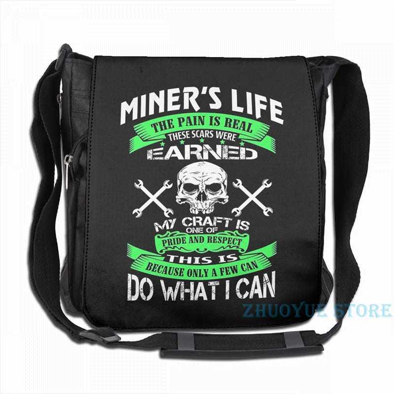 Impressão gráfica engraçado mineiro-fazer o que eu posso carga usb mochila masculino sacos de escola saco de viagem bolsa para portátil