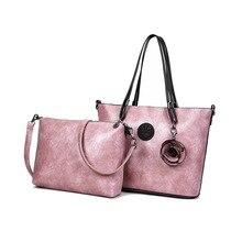 hot European and American fashion new autumn mother k i plde bag set slung handbag women  crossbody bags for pde