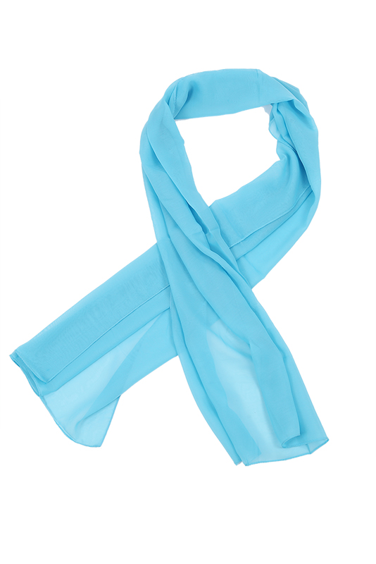 Women's Large Long Fashion Neck Head Scarf Light Blue