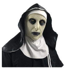 Máscara de látex com lenço de cabeça crucifixo terror máscara facial assustador cosplay thriller antifaz para fiesta horror rímel cruz