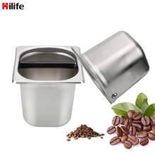HILIFE Praktische Anti slip Kaffee Knock Box Küche Werkzeug Zwei Größe Durable Kaffee Liefert Espresso Klopfen Box Edelstahl