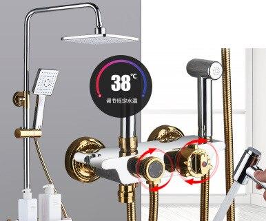 Ensemble de douche Platinum robinet de baignoire thermostatique robinet de baignoire avec affichage numérique intelligent ensemble de douche de contrôle de température