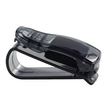 1 pièces offre spéciale Auto attache Cip Auto accessoires ABS voiture véhicule pare soleil lunettes de soleil lunettes porte lunettes pince à billet|Étui à lunettes| |  -