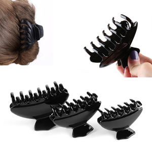 1PC Bright Black Acrylic Butterfly Hairpins Holding Hair Claw Hair Clip Hairpins Professional Hair Salon Styling Tools(China)