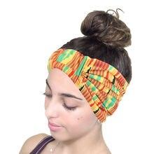 Женская эластичная повязка на голову из эластичного хлопка с