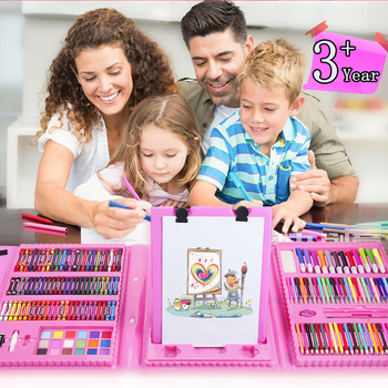 12-208pcs Watercolor Pencils Crayon Set Non-toxic  Educational Toys Painting Gift Pen Drawing Art Colored For Kids Student 1