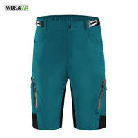 WOSAWE Reflective Cycling Shorts Zipped Pockets Outdoor Sports MTB Mountain Bike Bicycle Riding Trousers Water Resistant Short
