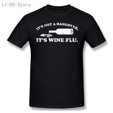 Футболка с надписью «it not a hangover its wine flu» футболка