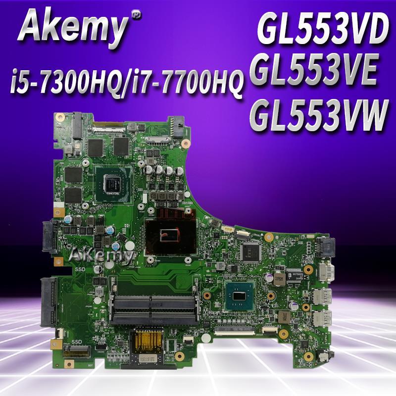 Troca!!! Laptop motherboard para ASUS ROG GL553VD GL553VE GL553VW GL553V GL553 mainboard original GTX1050M GTX960M i7/i5 cpu
