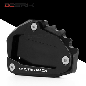 Image 3 - CNC Aluminum Motorcycle Accessories Side Stand Enlarger pad plate kickstand For DUCATI Multistrada 1200 1260 1200S 1200GT 950