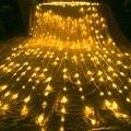 3x 2 m/3x 3m/6x3 m cachoeira meteoro chuveiro cortina icicle led string luz natal festa de casamento guirlanda decoração de fadas luzes