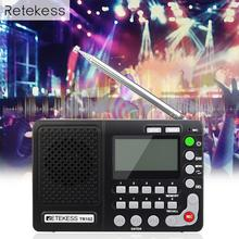 Radio Receiver FM AM SW Portable Radio Pocket With USB MP3 Digital Recorder Support Micro TF Card Sleep Timer