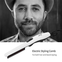 Electric Beard and Hair Straightener Brush Professional PTC