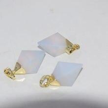 Модные ювелирные изделия с золотыми опаловыми точками квадратная