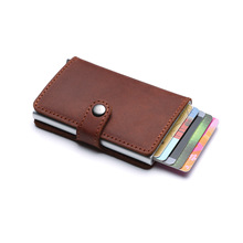 Smart Wallet for Men and Women Aluminum Box Credit Card Holder Mini Wallet Security RFID Holder PopUp Clutch Card Case
