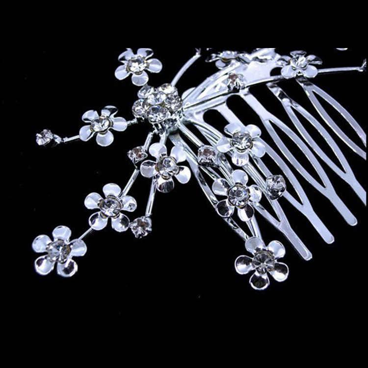 נסיכת קריסטל מצנפות סיכת ראש בגימור קיד בנות אהבת כלה משתה נשף קראון חתונה Accessiories שיער תכשיטים