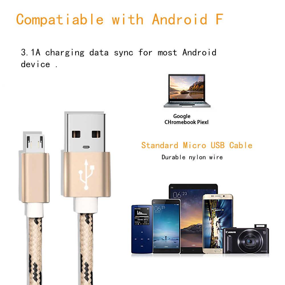 สายMicro USBสำหรับSamsung Galaxy S7 S6 Fastชาร์จโทรศัพท์มือถือสำหรับHuawei Xiaomiแท็บเล็ตUSBสายลวด