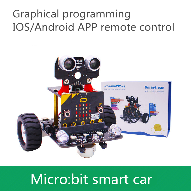 Micro:bit Smart Car Robot Kit Microbit Graphical Programming Development Board STEM Set Compatible With Legoing Blocks
