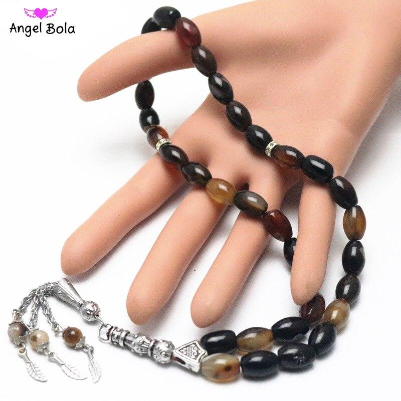 Islamic Color Prayer Beads Rosary Tasbih Allah Misbaha Taspeeh  Sibha Masbaha Tesbih Muslim Gift Subha MisbahaStrand Bracelets   -