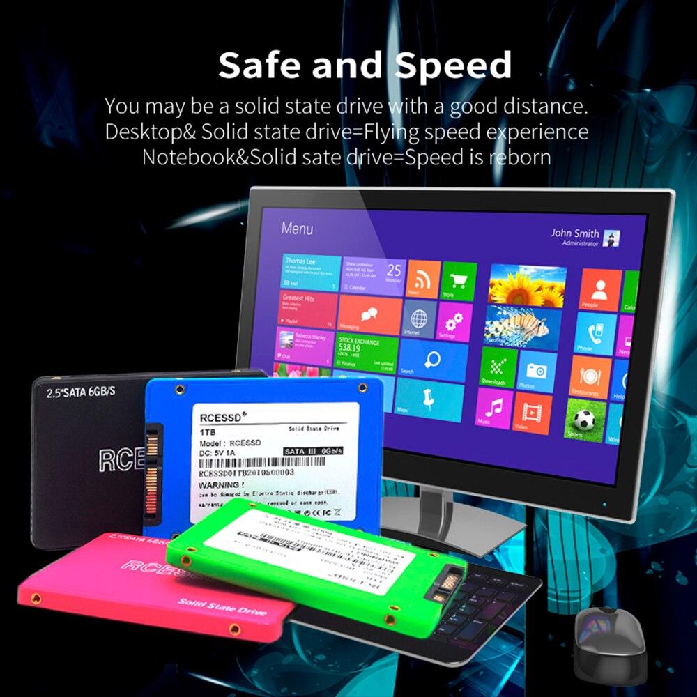 RCESSD 2.5'' Sata3  60gb 512gb SATA III SSD 256gb120 Gb Internal Solid State Drive Desktop Computer Hard Drive Laptop Hard Disk
