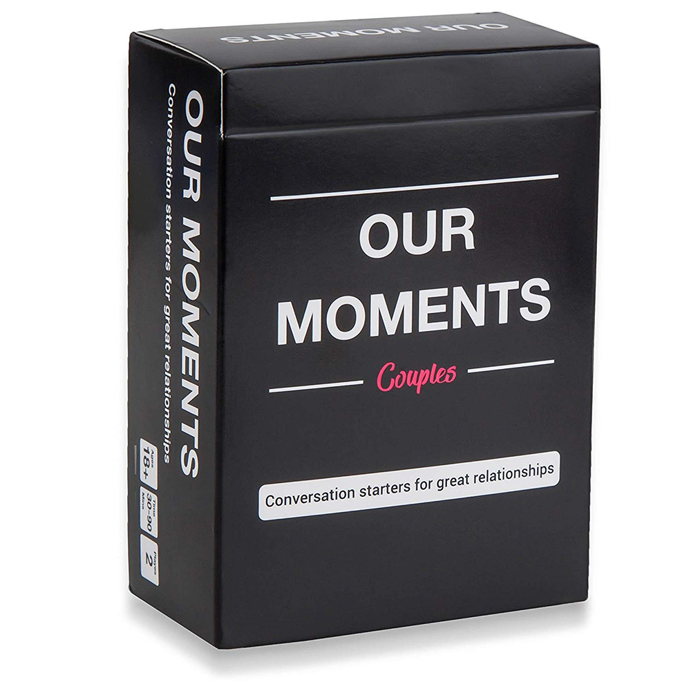 Our Moments Couples: 100 Thought Provoking Conversation Starters For Great-Fun Fun Relationships Cards Game For Couples