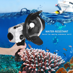 Bluetooth Control Waterproof Case For iPhone 6/7/8/X/XR Cover 60m/195ft Diving Surfing Swimming Underwater Protective Housing