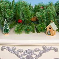 Christmas Rattan Garland Tree Pine Cone Hanging Fireplace Cane Home Garden Decor R7RC