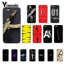 Yinuoda AK47 Gun TPU black Phone Case Cover Shell for iPhone 8 7 6 6S X XS MAX 5 5S SE XR 10 11 Pro Max(China)