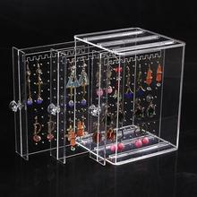 Transparent Acrylic Jewelry Display Rack Earrings Holder Organizer Ear Stud  Stand Box Case