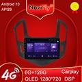 NaviFly 6 ГБ + 128 Гб 8 ядер Carplay QLED 1280*720 Android 10,0 радио GPS автомобильный мультимедийный плеер для Chevrolet Cruze J300 J308 2012