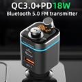 Автомобильный MP3-плеер Cden, приемник Bluetooth 5,0, FM-передатчик pd18w, USB-C, автомобильное зарядное устройство, U-диск, музыкальный проигрыватель для те...