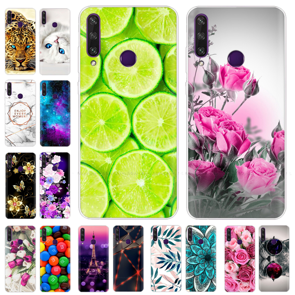"""6.3"""" For Huawei Y6P Case MED-LX9N Cover Silicone Bumper Soft TPU Back Cover Phone Case for Huawei Y6P MED-LX9N Y 6P 2020 Case"""