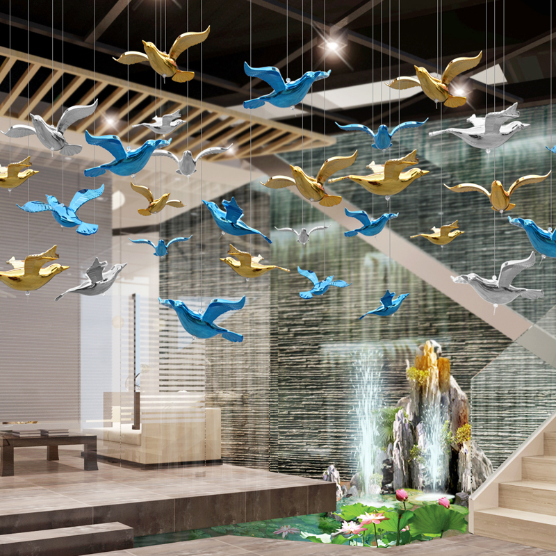 Wedding Party Bird DIY Lot Color Hummingbird Halloween Acrylic Crystal Pendant Ceiling Home Accessories Decor 10pcs Decoration