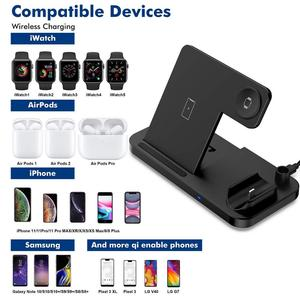 Image 2 - DCAE Wireless Charger QI 4 in 1 10W Fast Charging Dock Station for Apple Watch 5 4 3 2 Airpods Pro iPhone 11 XS XR X 8 Stand Pad